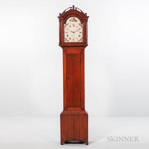 Abraham Edwards Pine Tall Clock