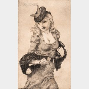 Douglas Warner Gorsline (American, 1913-1985)      Two Works: The New Fur