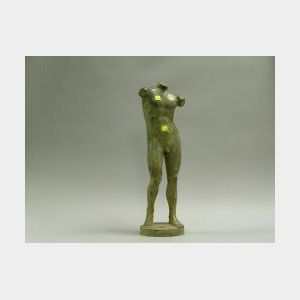 Patinated Bronze Nude Male.