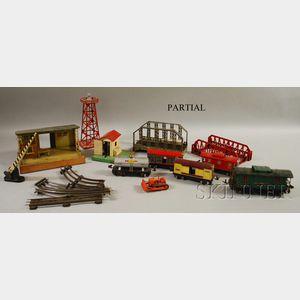 Lot of Assorted Lionel O Gauge Trains, Accessories, and Track