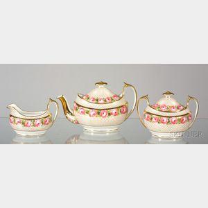 Copeland Hand-painted China Tea Set