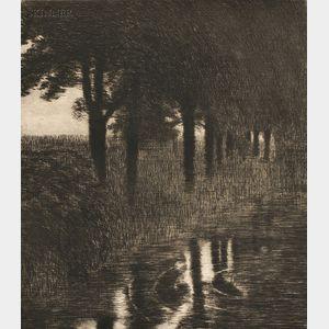 Franz von Stuck (German, 1863-1928)      Forellenweiher