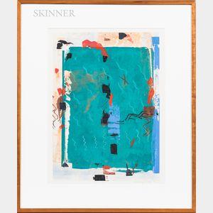 Lonny Schiff (American, 1929-2001)      Two Abstract Screenprints.