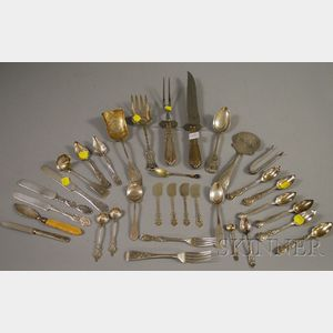 Approximately Twenty-five Silver Flatware Items