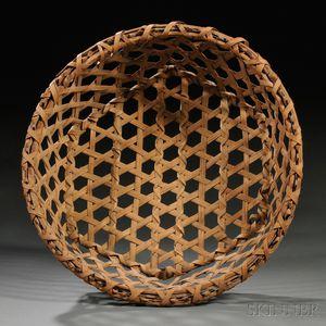 Large Woven Splint Cheese Basket