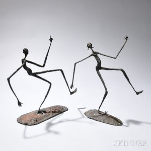 Daniel W. Bates (American, b. 1951)    Keep on Truckin' Sculpture  /Two Figures