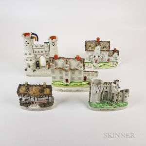 Five Titled Staffordshire Cottages and Castles