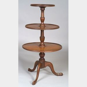 Federal Mahogany Three-Tier Stand