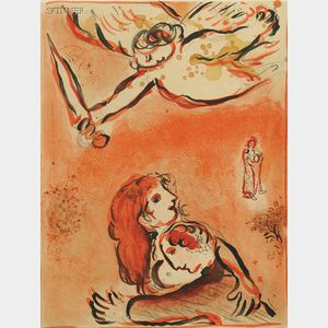 Marc Chagall (French/Russian, 1887-1985)      Le Visage d'Israël