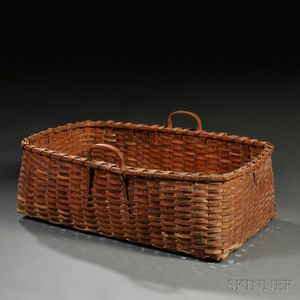 Large Double-handled Woven Splint Basket