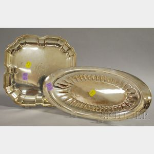 Towle Sterling Bread Tray and a International Square Shallow Bowl