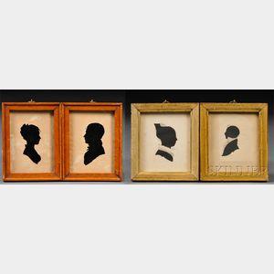 Four Framed Silhouette Portraits