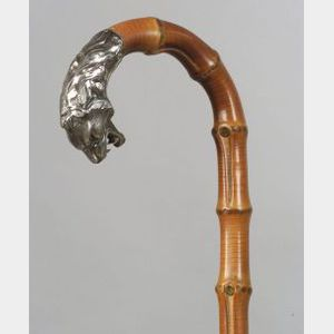 Continental Bamboo and Silver Lion's Head Cane