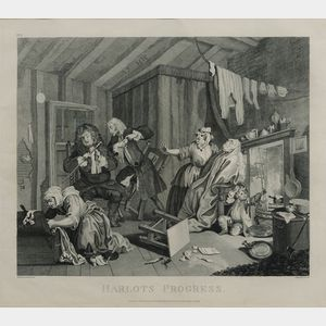 Thomas Cook, engraver (British 1744-1818), After William Hogarth (British, 1697-1764) Lot of Six Plat...