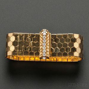 18kt Gold and Diamond Bracelet, Cartier
