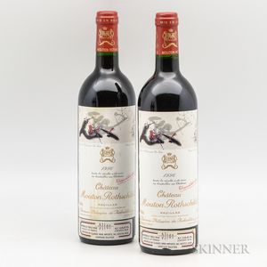 Chateau Mouton Rothschild 1996, 2 bottles