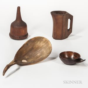 Four Wood and Horn Utensils