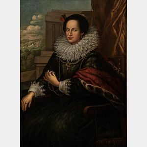 After Sir Anthony van Dyck (Flemish, 1599-1641)      Portrait of a Genoese Lady