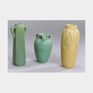 Three Rookwood Pottery Vases