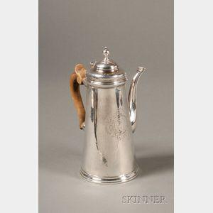 Irish George II Silver Chocolate Pot