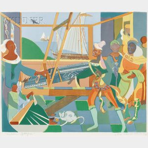 Romare Bearden (American, 1911-1988)      The Return of Ulysses