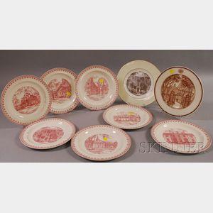 Nine Wedgwood Harvard University Graduate School of Business Administration   Ceramic Plates