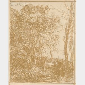 Jean-Baptiste-Camille Corot (French, 1796-1875)      La Ronde Gauloise