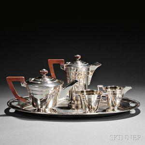 Five-piece George VI Sterling Silver Tea and Coffee Service