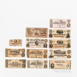Small Group of Confederate Notes