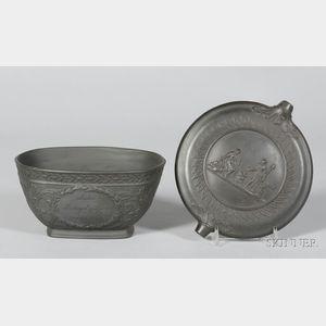 Two Black Basalt Items