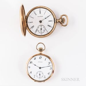 Two American 14kt Gold Watches