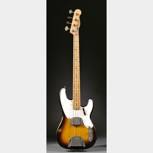 American Electric Bass Guitar, Fender Electric Instruments, Fullerton, 1957,   Model Precision Bass