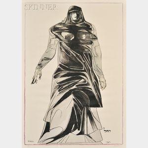 Leonard Baskin (American, 1922-2000)      Rachel