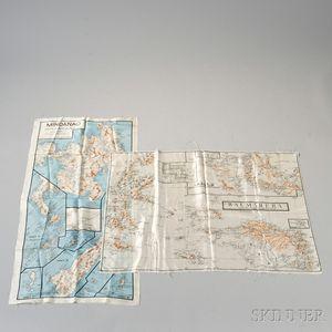 Two Royal Australian Air Force Silk Maps