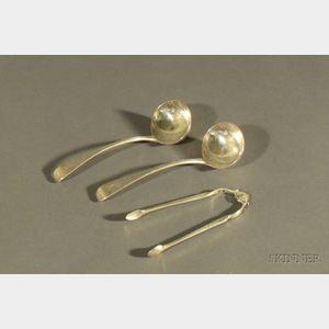 Three George III Silver Flatware Items