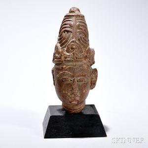 Stone Head of a Deity