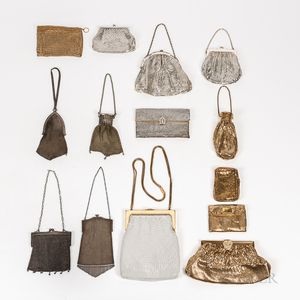 Fourteen Vintage Mesh Purses