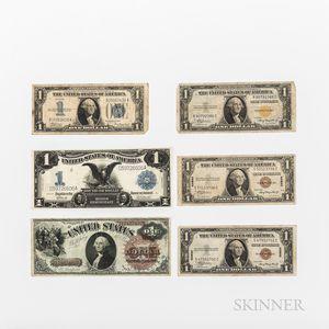 Six Pieces of American Currency