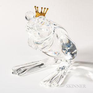"Steuben 18kt Gold, and Glass ""Frog Prince"" Sculpture"