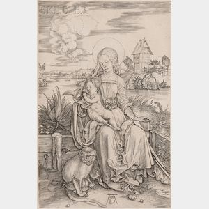 Albrecht Dürer (German, 1471-1528)      The Virgin and Child with Monkey