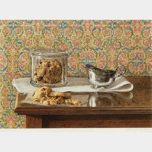 John Stuart Ingle (American, b. 1933)      Still Life with Cookies