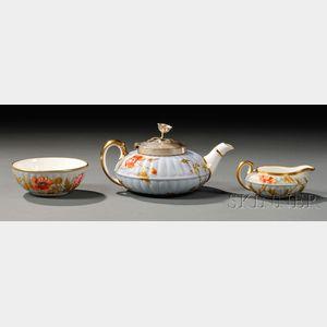 Three-piece Wedgwood Bone China Tea Set