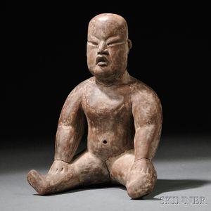 Olmec Seated Baby Figure
