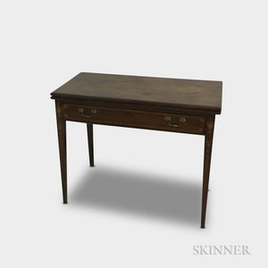 Federal-style Mahogany One-drawer Card Table