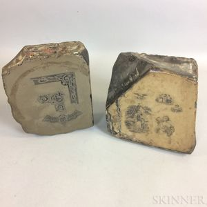 Two Engraved Lithography Stones