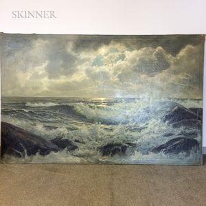 Karl Rohwedder-Ruge (German, 1864-1940)      Crashing Waves