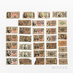 Thirty-eight Pieces of Fractional Currency