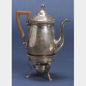 Scottish George III Silver Coffeepot on Stand