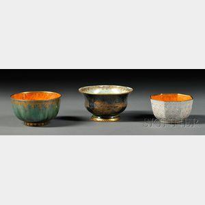 Three Wedgwood Lustre Bowls