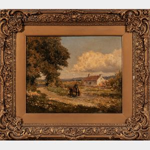 European School, 19th Century      Landscape with Horse and Cottage